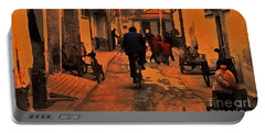 Portable Battery Charger featuring the photograph The Neighborhood by Lydia Holly