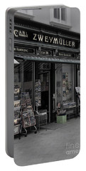 The Old Bookstore Portable Battery Charger by Mary Machare