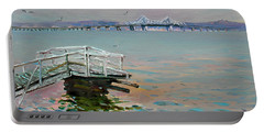 The Old Deck And Tappan Zee Bridge Portable Battery Charger