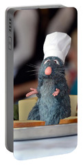 The Only Rat I Like Portable Battery Charger by Bonnie Myszka