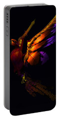 Portable Battery Charger featuring the digital art The Phoenix Rising... by Tim Fillingim