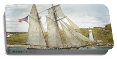 Portable Battery Charger featuring the photograph The Pride Of Baltimore In Halifax by Verena Matthew