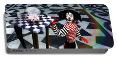 Portable Battery Charger featuring the digital art The Puppet Freedom by Rosa Cobos