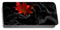 Portable Battery Charger featuring the photograph The Red Leaf by Beverly Cash