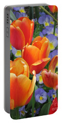 The Secret Life Of Tulips - 2 Portable Battery Charger by Rory Sagner