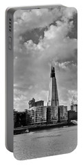 The Shard London Black And White Portable Battery Charger
