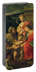 The Virgin And Child With Saints Portable Battery Charger