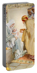 The Visit Of The Wise Men Portable Battery Charger