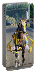 Portable Battery Charger featuring the photograph The Warm-up by Davandra Cribbie