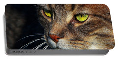 Portable Battery Charger featuring the photograph The Watcher by Davandra Cribbie