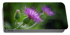 Portable Battery Charger featuring the photograph Thistle Dance by Vicki Pelham