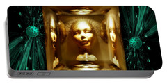 Portable Battery Charger featuring the digital art Thoughts Mirror Box by Rosa Cobos