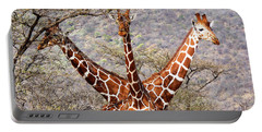 Three Headed Giraffe Portable Battery Charger