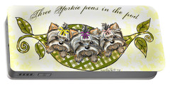 Three Yorkie Peas In The Pod Portable Battery Charger