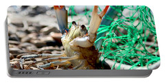 Crab Throw Me Something Mister Portable Battery Charger by Luana K Perez