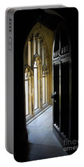 Portable Battery Charger featuring the photograph Thru The Chapel Door by Cindy Manero