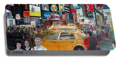 Times Square Portable Battery Charger by Anna Ruzsan