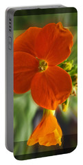 Portable Battery Charger featuring the photograph Tiny Orange Flower by Debbie Portwood