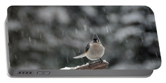 Titmouse Endures Snowstorm Portable Battery Charger