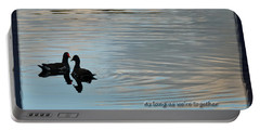Portable Battery Charger featuring the photograph Together by Steven Sparks