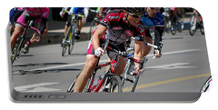 Portable Battery Charger featuring the photograph Tour Of The Gila - Criterium  by Vicki Pelham
