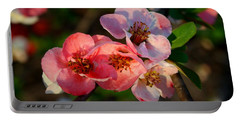 Portable Battery Charger featuring the photograph Toyo Nishiki Quince by Kathryn Meyer