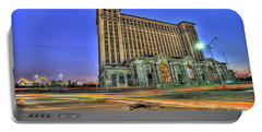 Michigan Central Train Depot Station Detroit Mi Portable Battery Charger