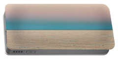 Tranquility On The Ocean Horizon Portable Battery Charger by Carol F Austin