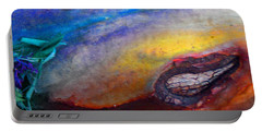 Portable Battery Charger featuring the digital art Travel by Richard Laeton