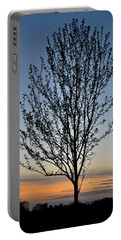 Tree At Sunset Portable Battery Charger