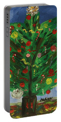 Tree In The Blue Room Portable Battery Charger by Mary Carol Williams