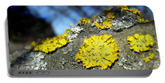 Portable Battery Charger featuring the photograph Tree Lichen by Ausra Huntington nee Paulauskaite