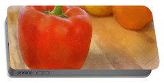 Tri Colored Peppers Portable Battery Charger