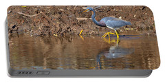 Tricolored Heron In The Winter Marsh Portable Battery Charger