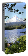 Trillium Lake At Mt. Hood Portable Battery Charger by Athena Mckinzie