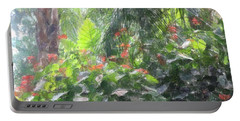 Portable Battery Charger featuring the photograph Tropical Paradise by Donna  Smith
