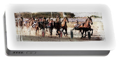Portable Battery Charger featuring the photograph Trotting 3 by Pedro Cardona
