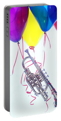 Trumpet Lifted By Balloons Portable Battery Charger