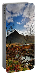 Portable Battery Charger featuring the photograph Tryfan And Tree by Beverly Cash