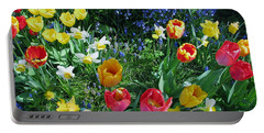 Tulips Dancing Portable Battery Charger by Rory Sagner