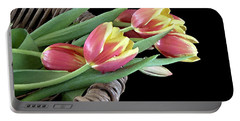 Tulips From The Garden Portable Battery Charger by Sherry Hallemeier