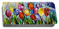 Tulips On Parade Portable Battery Charger