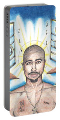 Tupac In Heaven Portable Battery Charger