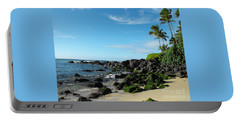 Turtle Beach Oahu Hawaii Portable Battery Charger by Rebecca Margraf
