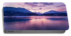 Twilight Above A Fjord In Norway With Beautifully Colors Portable Battery Charger