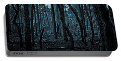 Portable Battery Charger featuring the photograph Twilight In The Smouldering Forest by DigiArt Diaries by Vicky B Fuller