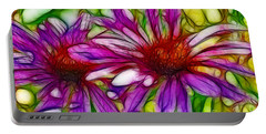 Two Purple Daisy's Fractal Portable Battery Charger