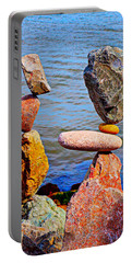 Two Stacks Of Balanced Rocks Portable Battery Charger