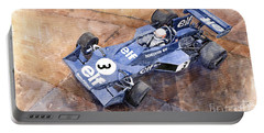 Tyrrell Ford 007 Jody Scheckter 1974 Swedish Gp Portable Battery Charger