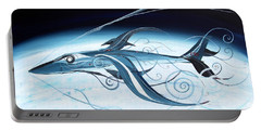 U2 Spyfish - Spy Plane As Abstract Fish - Portable Battery Charger by J Vincent Scarpace